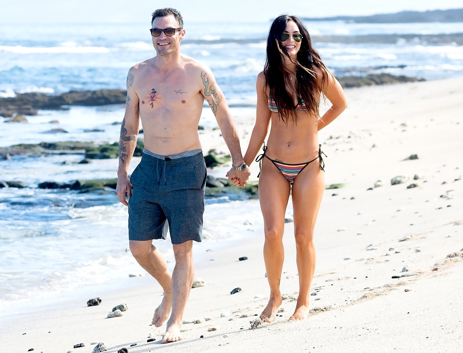 brian austin green, megan fox return to honeymoon getaway