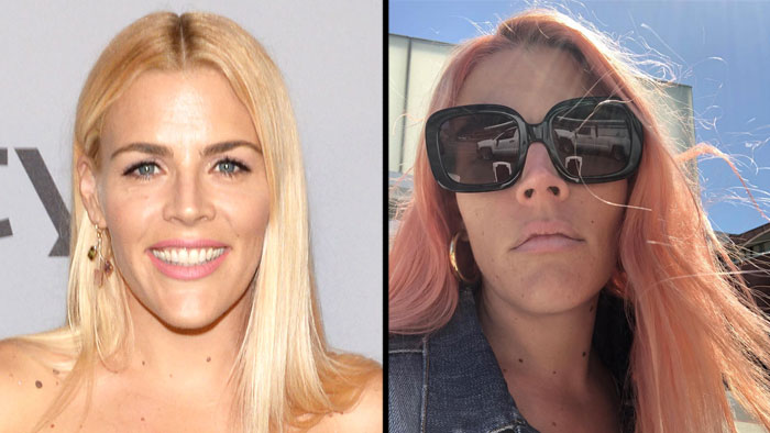 Busy Philipps - The signature blonde added some returned to the pink to her flaxen strands (again) to add a little bounce in her step. #RoseAllDay.