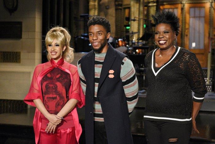 Cardi B, Chadwick Boseman, Leslie Jones, Saturday Night Live
