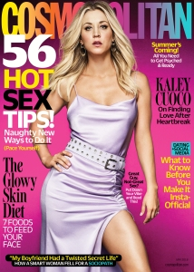 Kaley Cuoco on the cover of 'Cosmopolitan.'