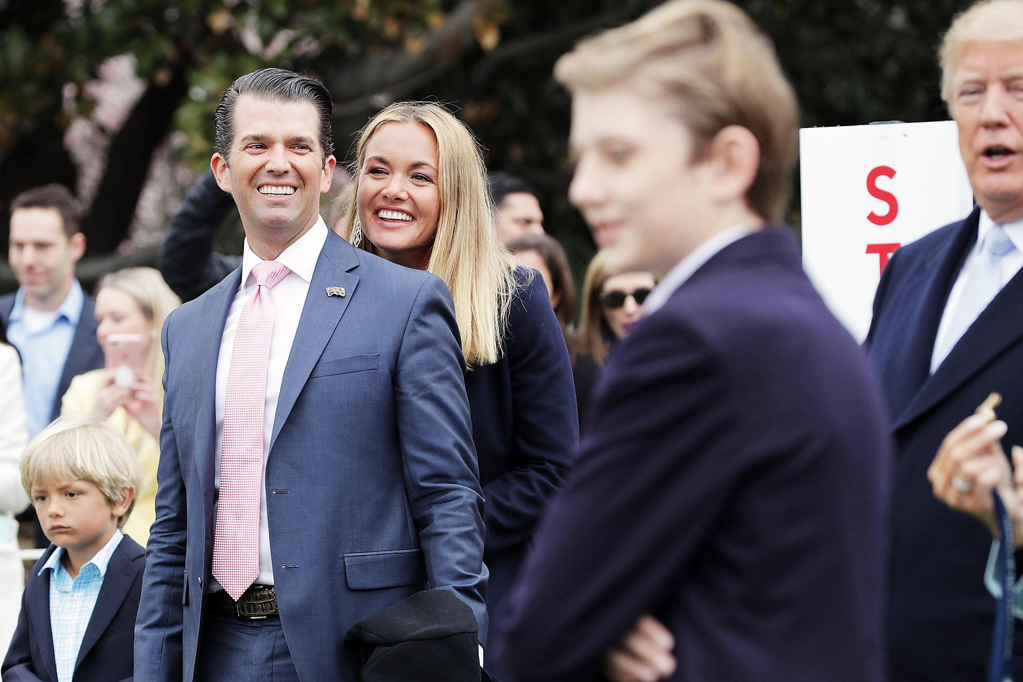 Donald Trump Jr. Vanessa Trump Easter Egg Roll