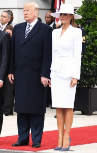Donald Trump Melania Trump awkward holding hands