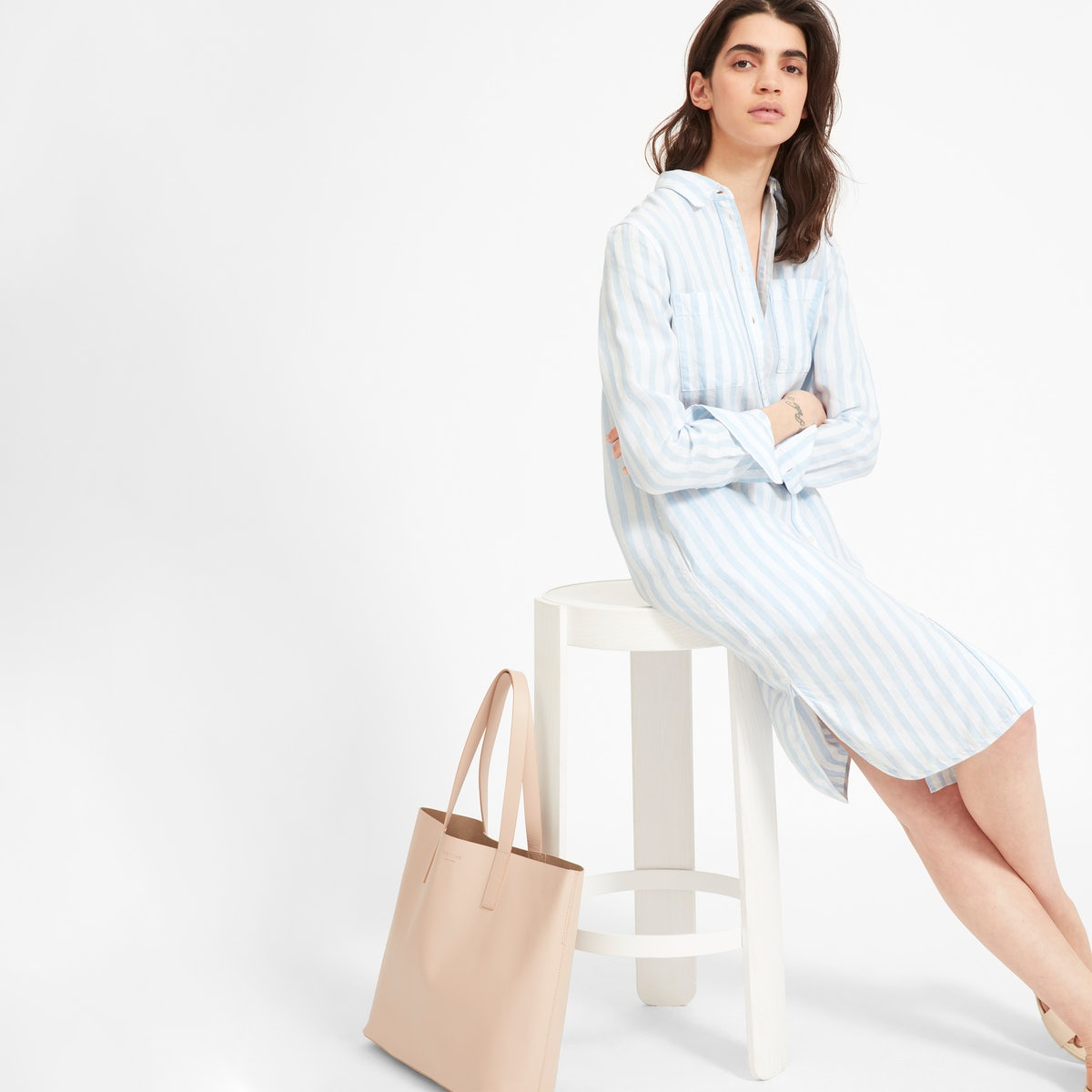 Summer Linen Shirt Dresses Inspired By Emma Roberts