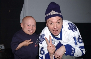 Verne Troyer and Mike Myers