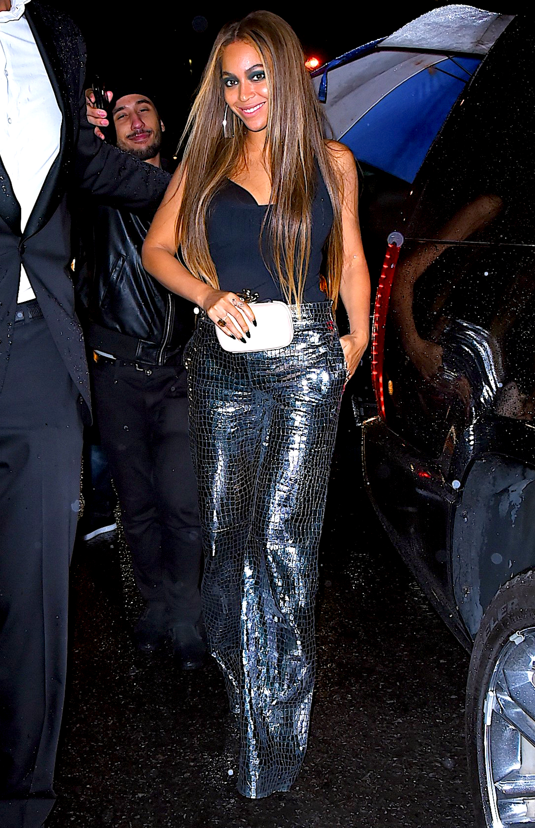 Gilded-Lily-Beyonce - Balmain invited celebrities including Beyoncé , Kim Kardashian , Kanye West , Kris Jenner , Jaden Smith and Cindy Crawford to the posh club located below The Monarch Room.