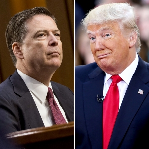 James Comey and Donald Trump pee tape