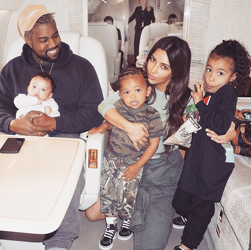 2919399b6c1 Kim Kardashian Shares Family Pic With Kanye West   Party of 5