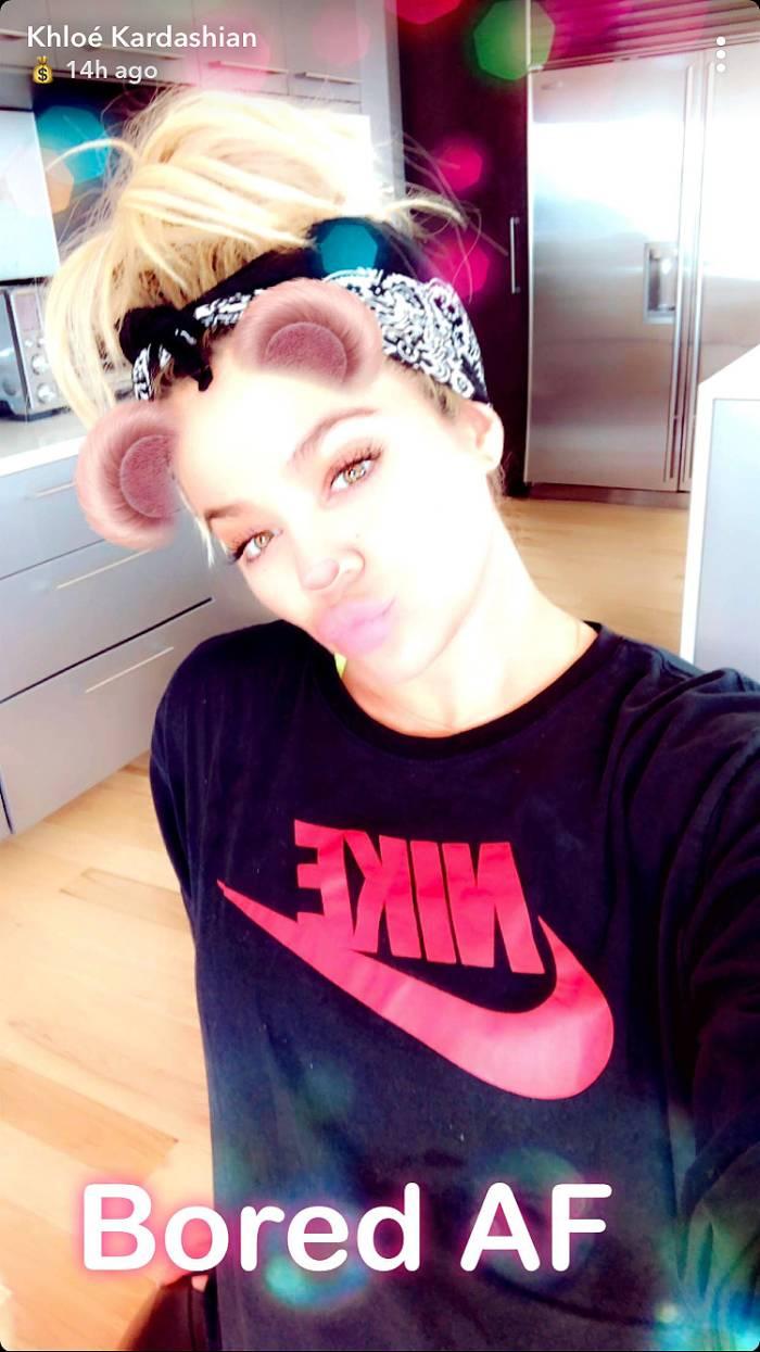 Khloe Kardashian, Pregnant, Birthing Ball, Snapchat