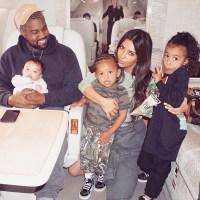 Kim Kardashian, Kanye West, North, Saint and Chicago Instagram Family Gallery