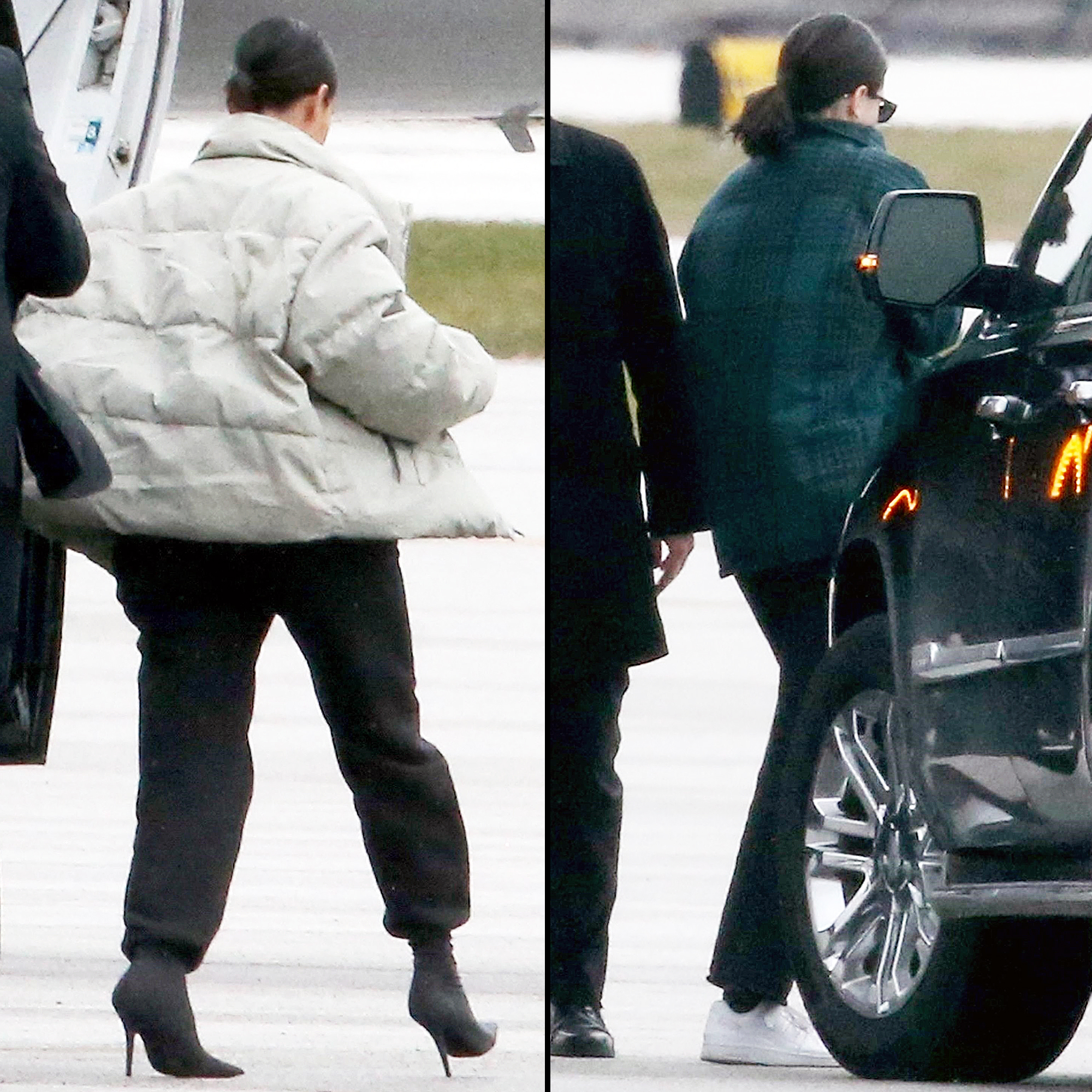 Kardashian Sisters Leave Cleveland