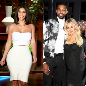 Kim Kardashian, Tristan Thompson and Khloe Kardashian