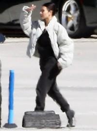 Kim Kardashian returns from Cleveland