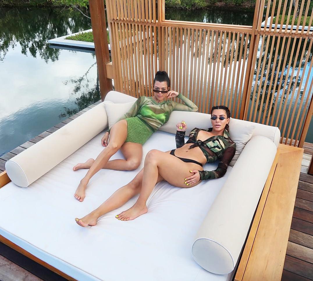 Kourtney Kardashian Kim Kardashian National Sibling Day