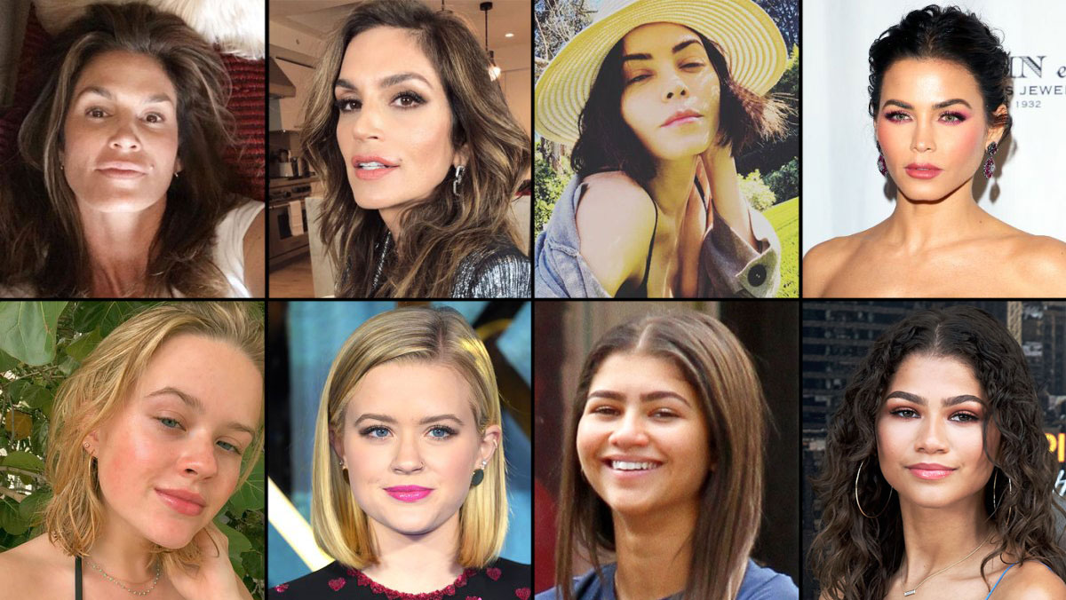 Cindy Crawford, Jenna Dewan, Zendaya - They get glammed up for red carpet events, but in their downtime, celebrities from Katie Holmes to Zendaya prefer to let their natural beauty take center stage. To see more stars without makeup—including Brooklyn Decker , Sofia Vergara , Kate Hudson , Kim Kardashian , Debra Messing , Heidi Klum , Kelly Clarkson , Jennifer Love Hewitt and more—check out the gallery now.