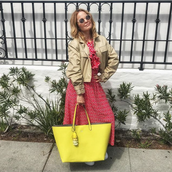 """Mena Suvari - When looking for new companies and products, the American Beauty alum dishes that Instagram is a great tool. """"I have found so many lines that I had never heard of before like Angela Roy, Amur, SUSI Studio and Delux."""""""
