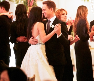 Patrick J. Adams as Mike Ross and Meghan Markle as Rachel Zane in 'Suits'