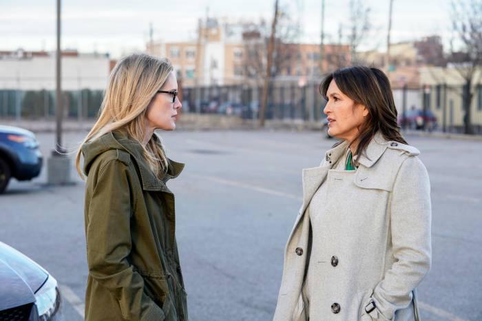 Stephanie March and Mariska Hargitay on 'Law & Order: Special Victims Unit'