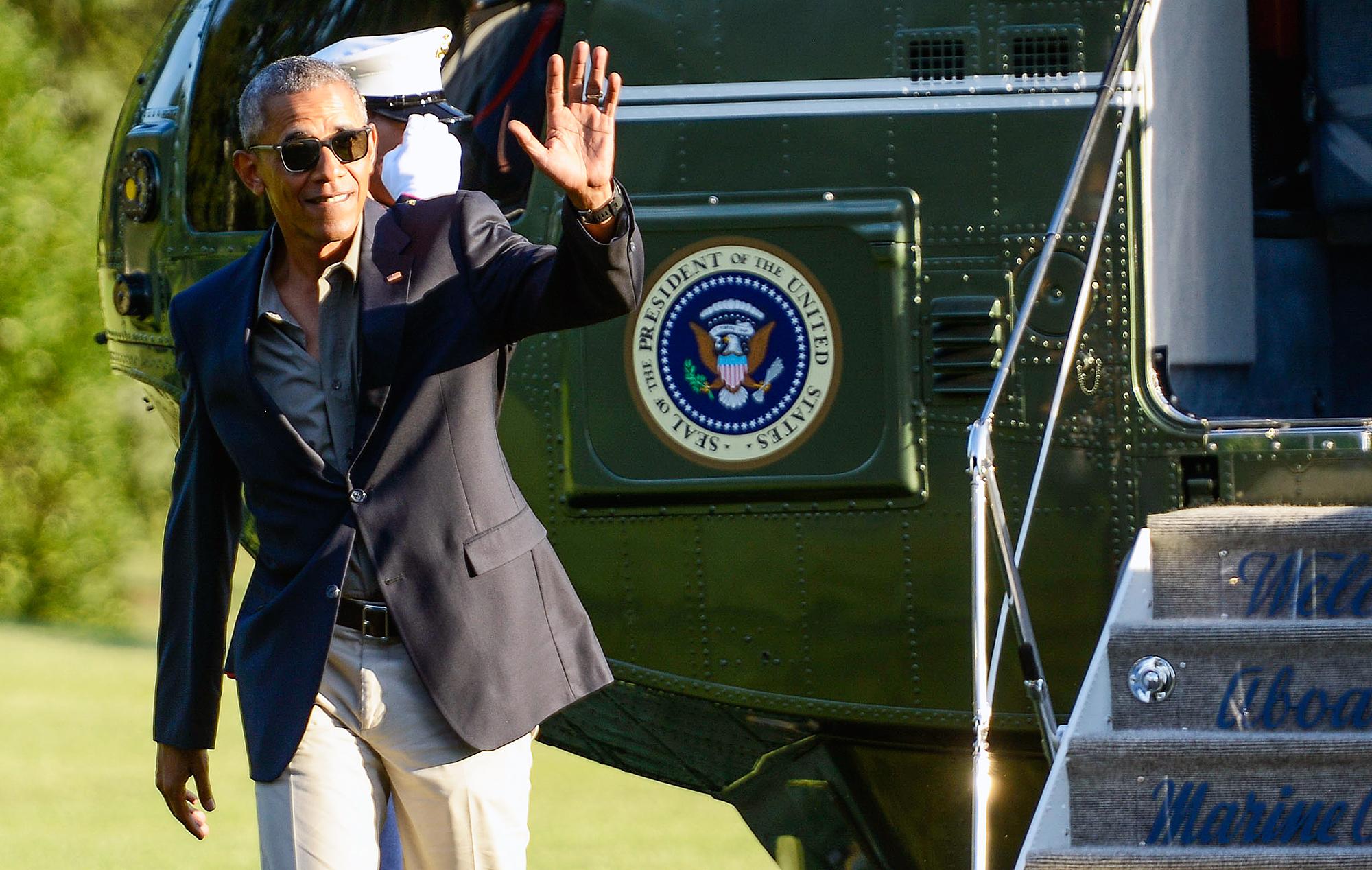 Barack Obama Marine One helicopter