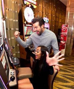 Rachel Lindsay celebrates birthday with Bryan Abasolo at SugarHouse Casino on April 21, 2018 in Philadelphia, Pennsylvania.