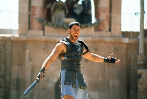 Russell Crowe divorce auction gladiator