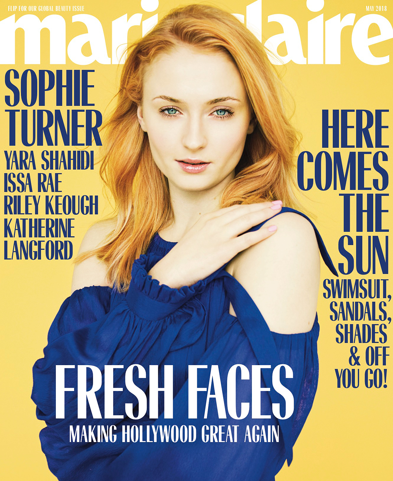 Sophie Tuner Marie Claire cover