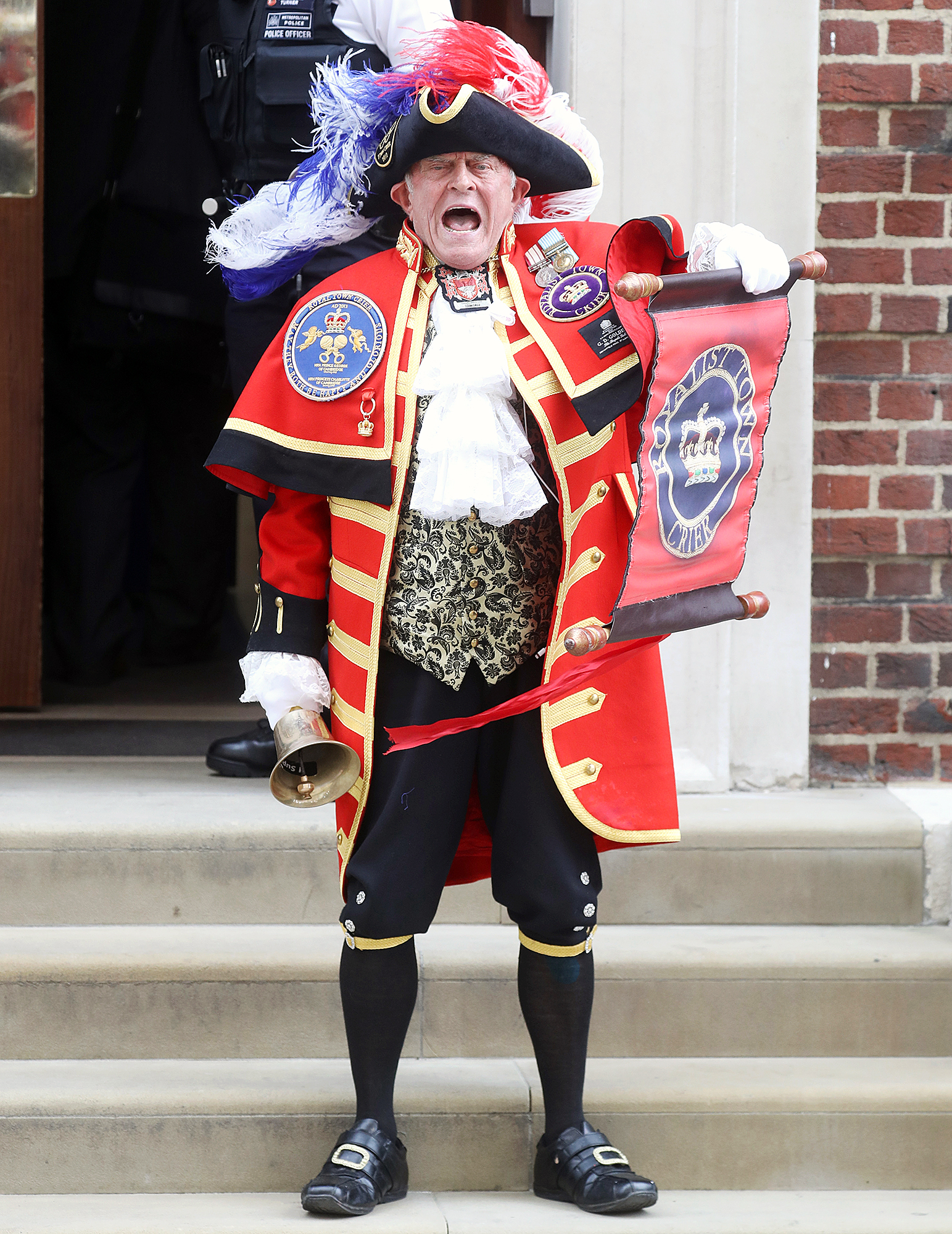 Town Crier Royal Baby Announcement