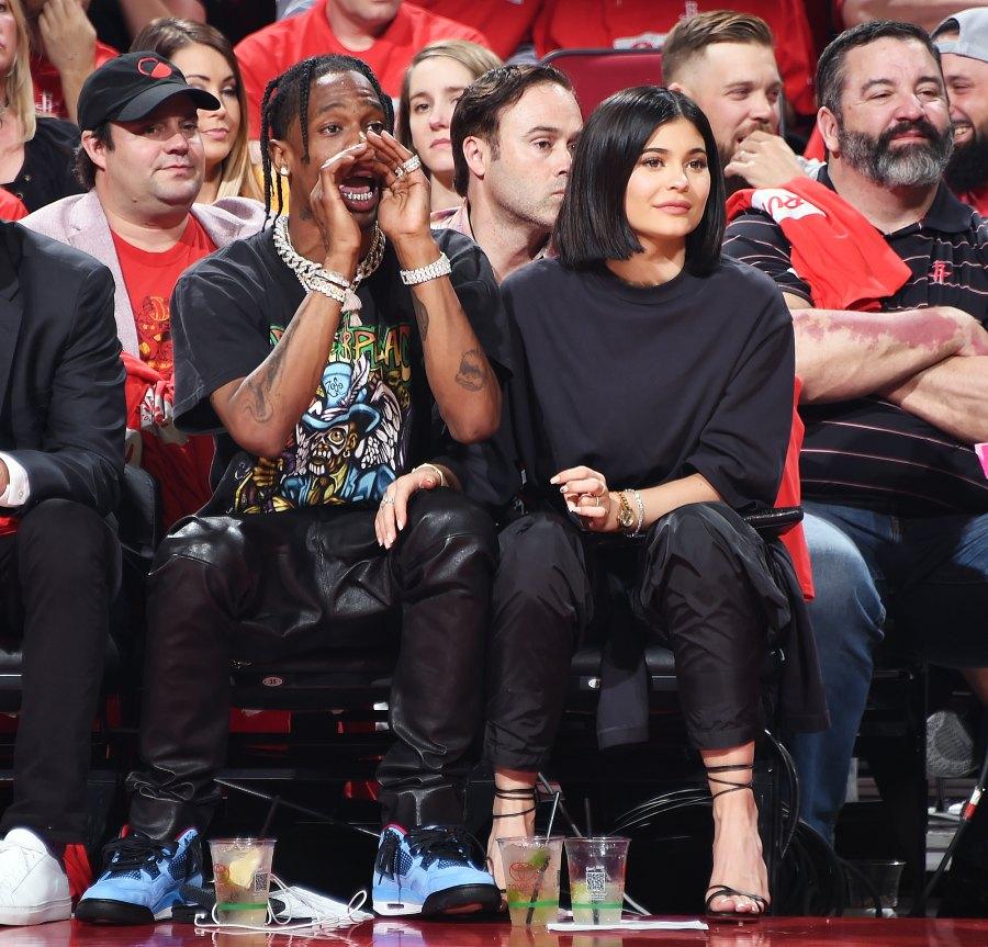 Travis Scott Kylie Jenner NBA Playoffs
