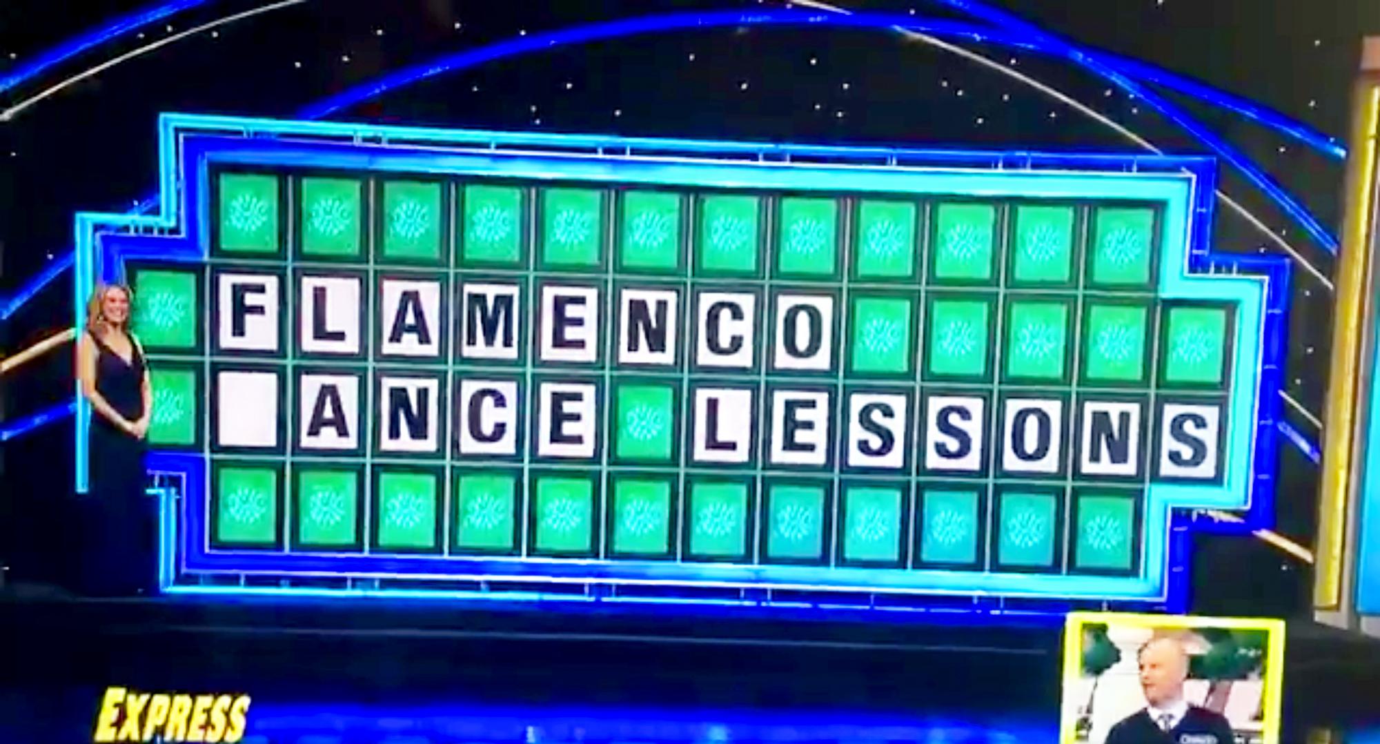 Wheel of Misfortune: Apex man loses $7k after mispronouncing 'flamenco'