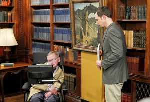 Stephen Hawking and Jim Parsons in 'The Big Bang Theory'