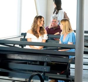 Camilla Luddington and Ellen Pompeo on 'Grey's Anatomy'