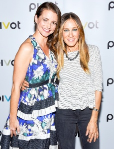 "Kristin Davis and Sarah Jessica Parker attend the ""Gardeners Of Eden"" Special Screening at Norwood Club on May 5, 2015 in New York City."