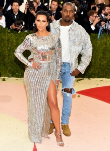 Kim Kardashian and Kanye West attend the 'Manus x Machina: Fashion In An Age Of Technology' Costume Institute Gala at Metropolitan Museum of Art on May 2, 2016 in New York City.