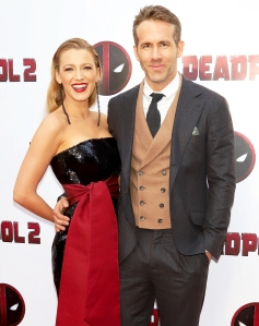 Blake Lively and Ryan Reynolds attend the 'Deadpool 2' New York Screening at AMC Loews Lincoln Square on May 14, 2018 in New York City.