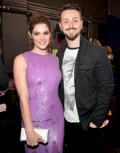 Ashley Greene and Paul Khoury backstage at the People's Choice Awards 2017 at Microsoft Theater in Los Angeles, California.