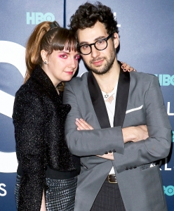 """Lena Dunham and Jack Antonoff attend the the New York 2017 premiere of """"Girls"""