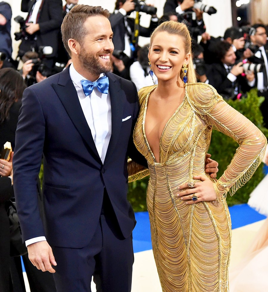 """Ryan Reynolds and Blake Lively attend the """"Rei Kawakubo/Comme des Garcons: Art Of The In-Between"""" Costume Institute Gala at Metropolitan Museum of Art on May 1, 2017 in New York City."""