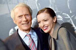 Clint Eastwood and daughter Francesca Eastwood attend the premiere of 'The 15:17 To Paris' at Warner Bros. Studios on February 5, 2018 in Burbank, California