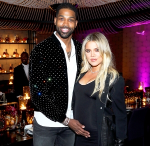 """Tristan Thompson and Khloe Kardashian attend the Klutch Sports Group """"More Than A Game"""" Dinner Presented by Remy Martin at Beauty & Essex on February 17, 2018 in Los Angeles, California."""