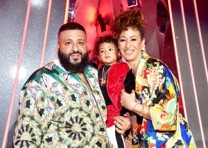 DJ Khaled and Nicole Tuck with their son Asahd attend the 2018 iHeartRadio Music Awards at The Forum in Inglewood, California.