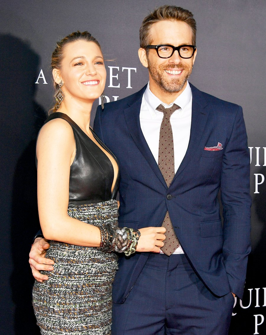 """Blake Lively and Ryan Reynolds attend the """"A Quiet Place"""" New York 2018 Premiere at AMC Lincoln Square Theater in New York City."""
