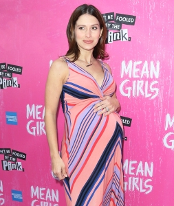 "Hilaria Baldwin attend the opening night of ""Mean Girls"" on Broadway at August Wilson Theatre on April 8, 2018 in New York City."