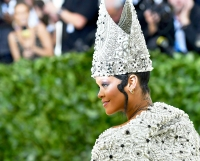 Rihanna arrives for the 2018 Met Gala on May 7, 2018 at the Metropolitan Museum of Art in New York City.