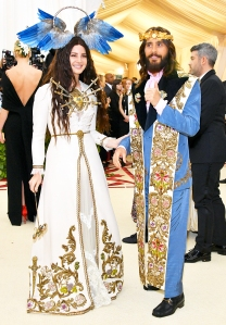 Lana Del Rey and Jared Leto attend the Heavenly Bodies: Fashion & The Catholic Imagination Costume Institute Gala at The Metropolitan Museum of Art on May 7, 2018 in New York City.