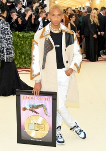 Jaden Smith attends the Heavenly Bodies: Fashion & The Catholic Imagination Costume Institute Gala at The Metropolitan Museum of Art on May 7, 2018 in New York City.