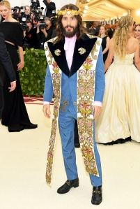 Jared Leto attends the Heavenly Bodies: Fashion & The Catholic Imagination Costume Institute Gala at The Metropolitan Museum of Art on May 7, 2018 in New York City.