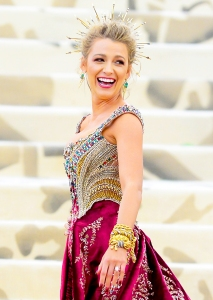 Blake Lively attends the Heavenly Bodies: Fashion & The Catholic Imagination Costume Institute Gala at The Metropolitan Museum of Ar at on May 7, 2018 in New York City.