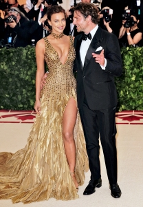 Irina Shayk and Bradley Cooper attend the Heavenly Bodies: Fashion & The Catholic Imagination Costume Institute Gala at The Metropolitan Museum of Art on May 7, 2018 in New York City.