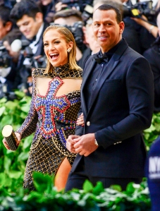 Jennifer Lopez and Alex Rodriguez attend the Heavenly Bodies: Fashion & The Catholic Imagination Costume Institute Gala at The Metropolitan Museum of Art on May 7, 2018 in New York City.