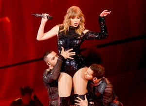 Taylor Swift performs on stage during the opening night of her 'Reputation' stadium tour at the University of Phoenix Stadium in Glendale, Arizona, on May 8, 2018.