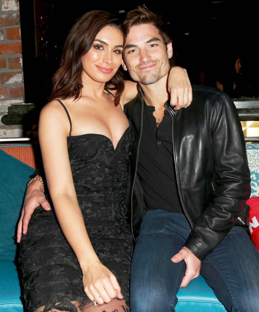 Ashley Iaconetti and Jared Haibon attend NYLON's Annual Young Hollywood Party at Avenue Los Angeles on May 22, 2018 in Hollywood, California.